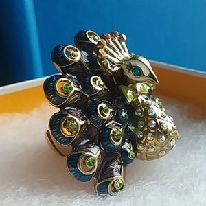 Betsey Johnson Peacock Ring- Intricate Details